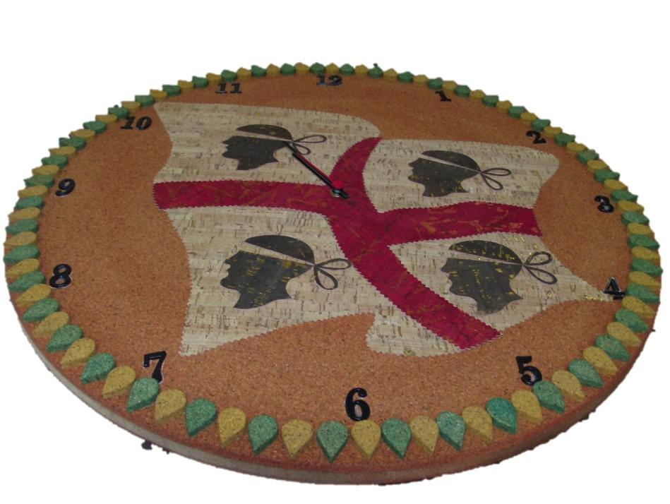 Orologio da parete 4 mori in sughero la bottega del sughero - Parete di sughero ...